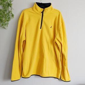 (Nautica) Golden Yellow Fleece Quarter Zip XL